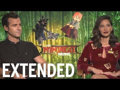 Justin Theroux, Olivia Munn Talk 'The LEGO Ninjago Movie'  EXTENDED