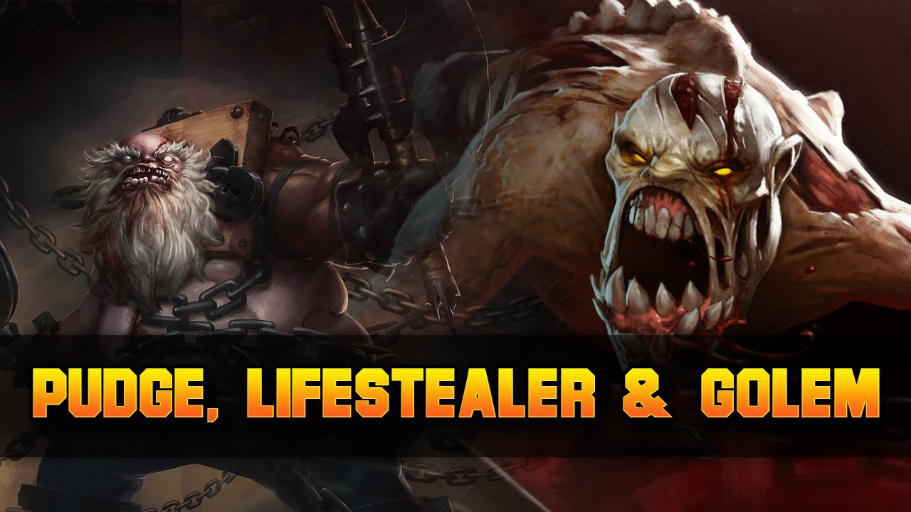 dota 2 pudge lifestealer granite golem youtube