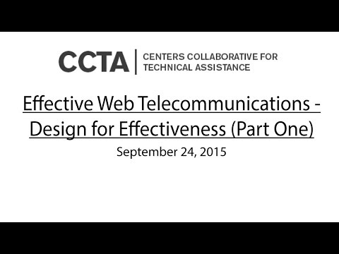 Effective Web Telecommunications-Design for Effectiveness (Part One)