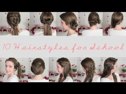 10 Quick & Easy Hairstyles For School Spreadinsunshine15 YouTube