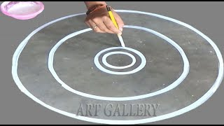 Made by eart colour a Big beautiful /easy rounde rangoli