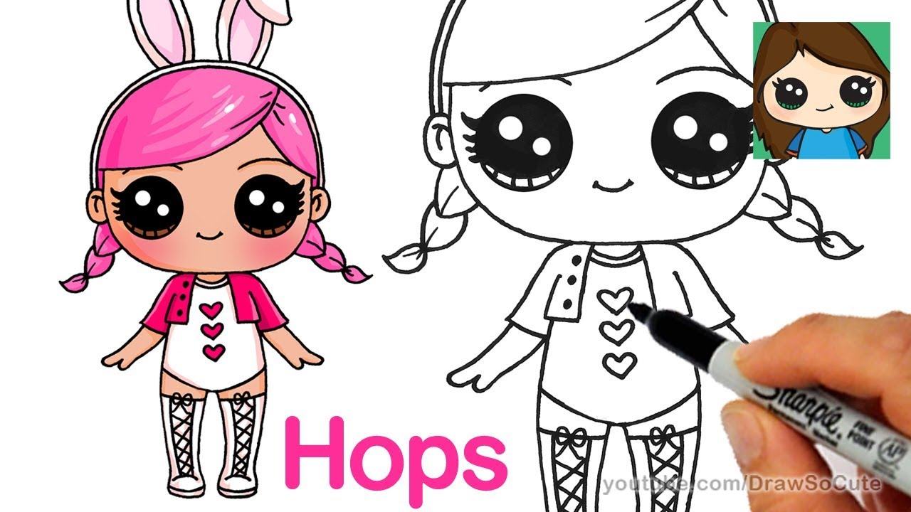 How to Draw a LOL Surprise Doll | Hops - YouTube