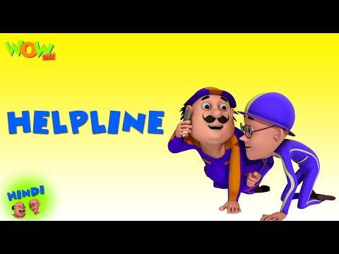 Helpline - Motu Patlu in Hindi - 3D Animation Cartoon for Kids