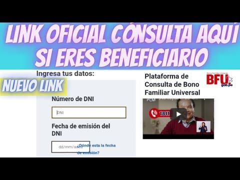 !Ya salió! Link oficial consulta aquí/Nuevo Bono 760
