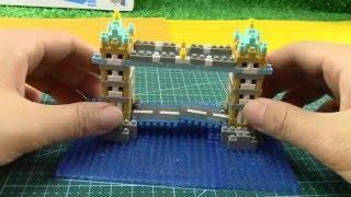 日本河田積木nanoblock系列NBH-065 倫敦塔橋 01922+zh