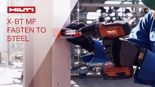 INTRODUCING the Hilti threaded stud X-BT MF for fastening to steel