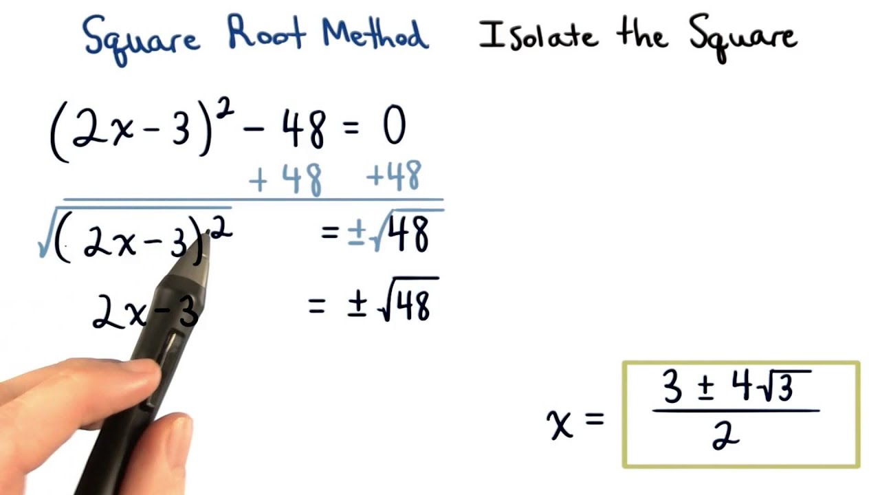 Square Root Method Isolate The Square