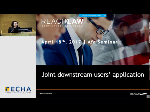 Example of a joint downstream users application scoping