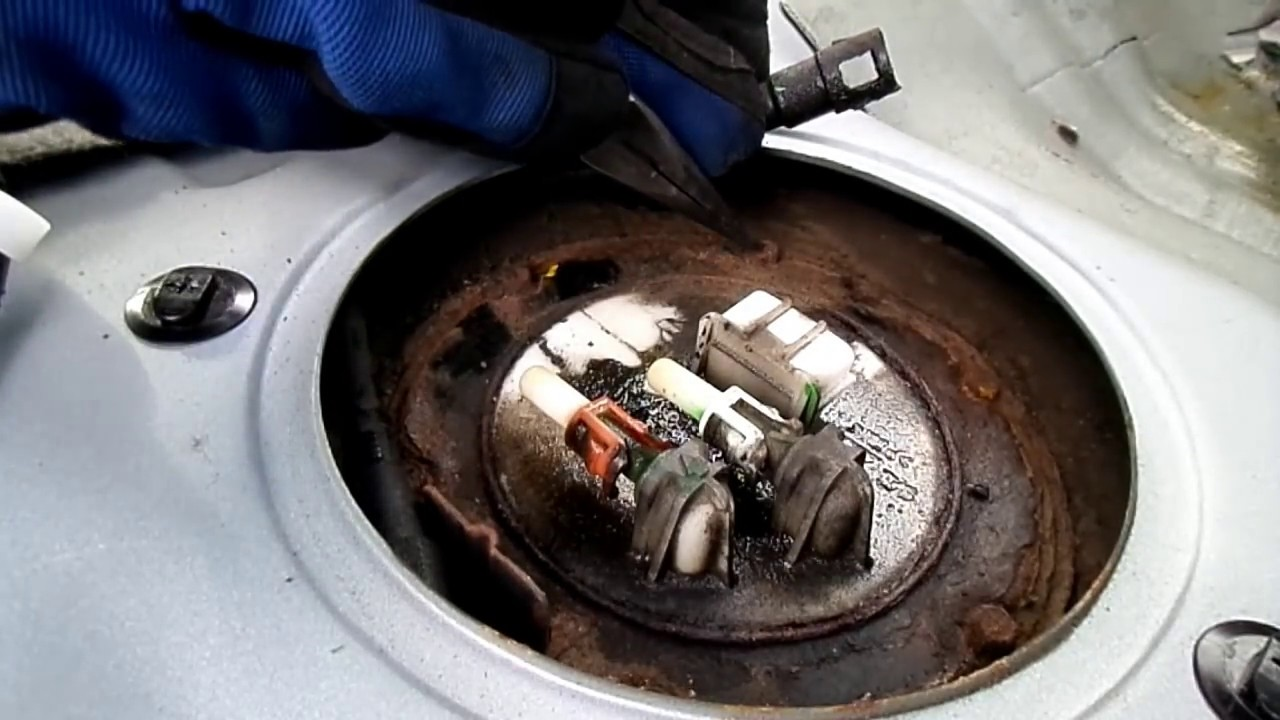 Nissan Sentra Fuel Pump Removal YouTube