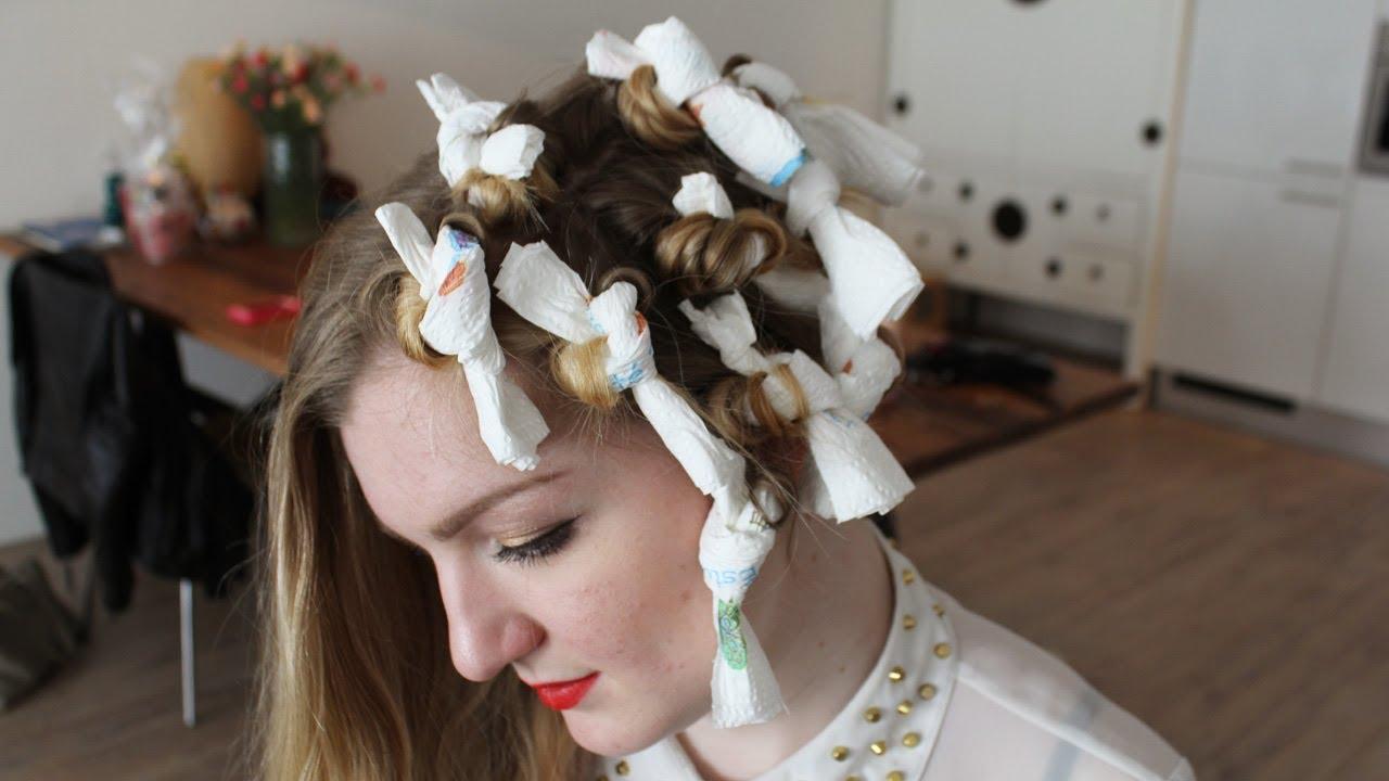 DIY: haar krullen met keukenpapier - YouTube