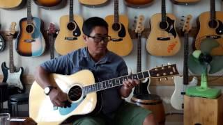 Danh thủ Phù Phú Phu test Guitar Acoustic Yamaha Fg-401b tại Nhạc cụ Vũ Uyên