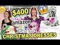 $400 AMAZON & ROSEGAL CHRISTMAS DRESS HAUL |  CHRISTMAS DRESSES HOLIDAY 2019