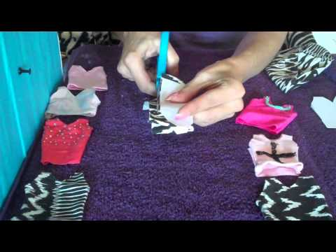 """How to Make Barbie Doll Clothes"" - (Singlet) Easy!!"