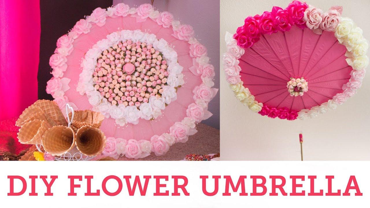 diy flower umbrella bridal shower parasol