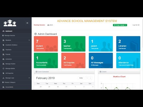 ADVANCE SCHOOL MANAGEMENT SYSTEM with a PHP