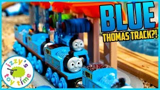 BLUE THOMAS TRACK! With the BRIO Smart Tech Workshop! Fun Toy Trains