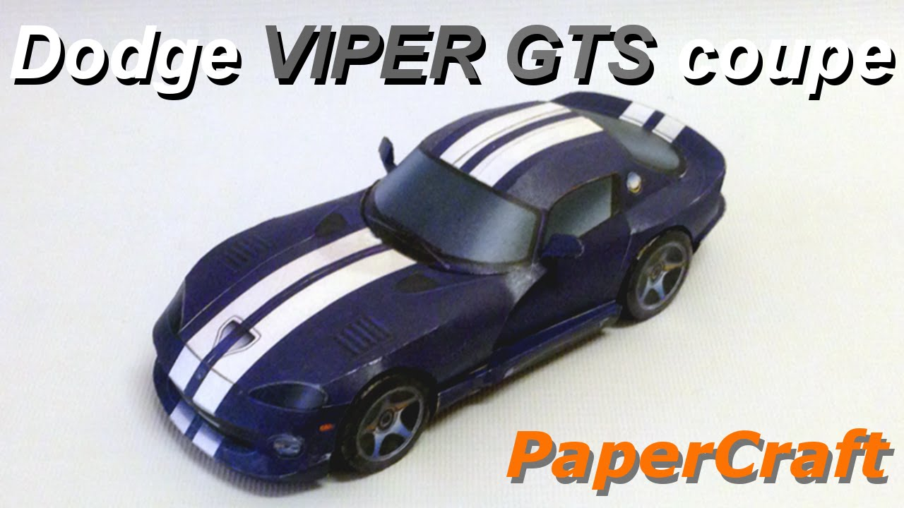 Papercraft How to make a PaperCraft Viper GTS