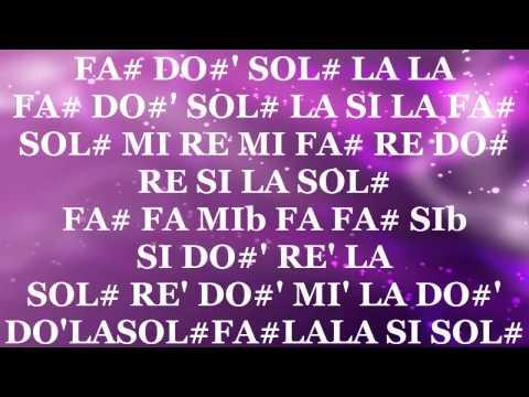 """Notas de la Canción """"Elfen Lied"""" (Versión Fácil)   Lilium"""