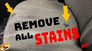 How To REMOVE HORRIBLE STAINS in CLOTH & CARPET... CAR or HOME