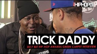 Trick Daddy Welcomes Us To Miami & More (2017 BET Hip-Hop Awards Green Carpet)