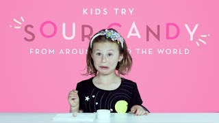 Kids Try Sour Candy from Around the World | Kids Try | HiHo Kids