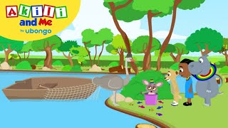 STORYTIME: Akili Goes Fishing | New Words with Akili and Me | African Educational Cartoons