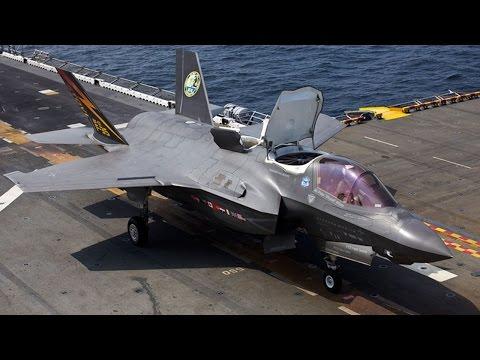 Вертикальный взлет и посадка F-35 Lightning II