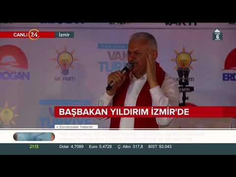 Başbakan Yıldırım İzmir halkına hitap etti (18 Haziran 2018)