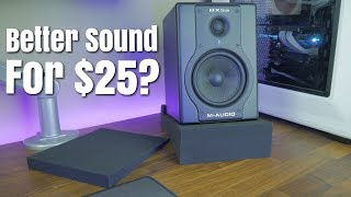 How To Improve Audio Quality From Your Desktop Speakers/Monitors Using Isolation Pads