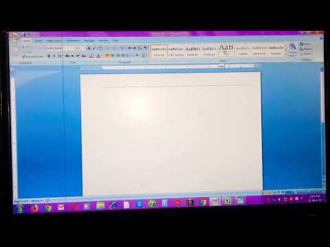 Introduction To MS Word (Tittle Bar, Ruler Bar,status Bar)   Microsoft Word 2007  Part - 3