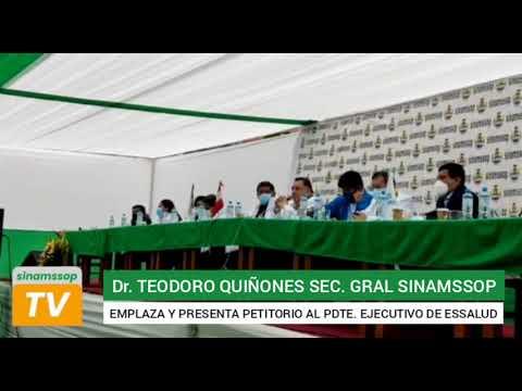 SECRETARIO GENERAL DEL SINAMSSOP EMPLAZÓ A PRESIDENTE EJECUTIVO DE ESSALUD