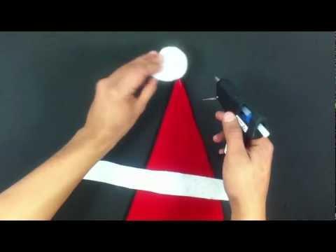 Gorro De Santa Claus Con Fieltro Manualidades De Navidad Youtube