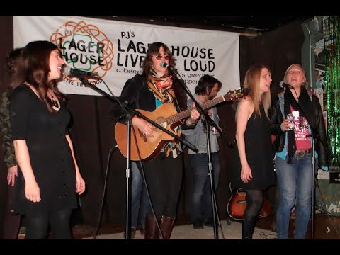 Audra Kubat, Emily Rose, Michelle Held, and Alison Lewis at PJ's Lager House April 27, 2015