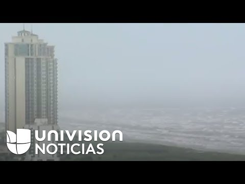 Así se ve Galveston, Texas, horas antes de la llegada del huracán Harvey