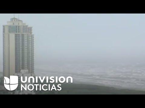 Así se ve Galveston, Texas, horas antes de la llegada del huracán Harvey
