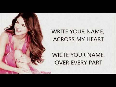 Write Your Name by Selena Gomez (Lyrics)
