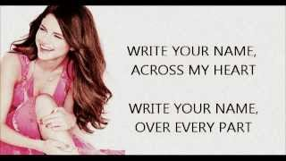 Write Your Name by Selena Gomez (Lyrics)