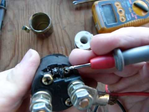Starter solenoid (relay) - YouTube