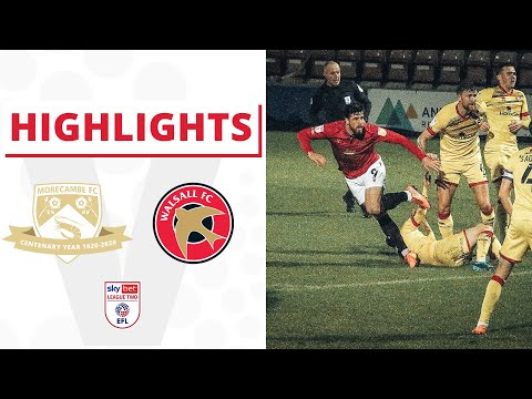 Morecambe Walsall Goals And Highlights