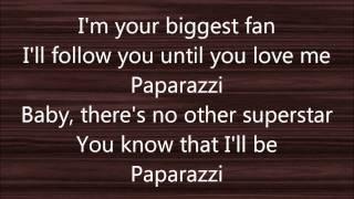 Lyrics to Paparazzi by Greyson Chance