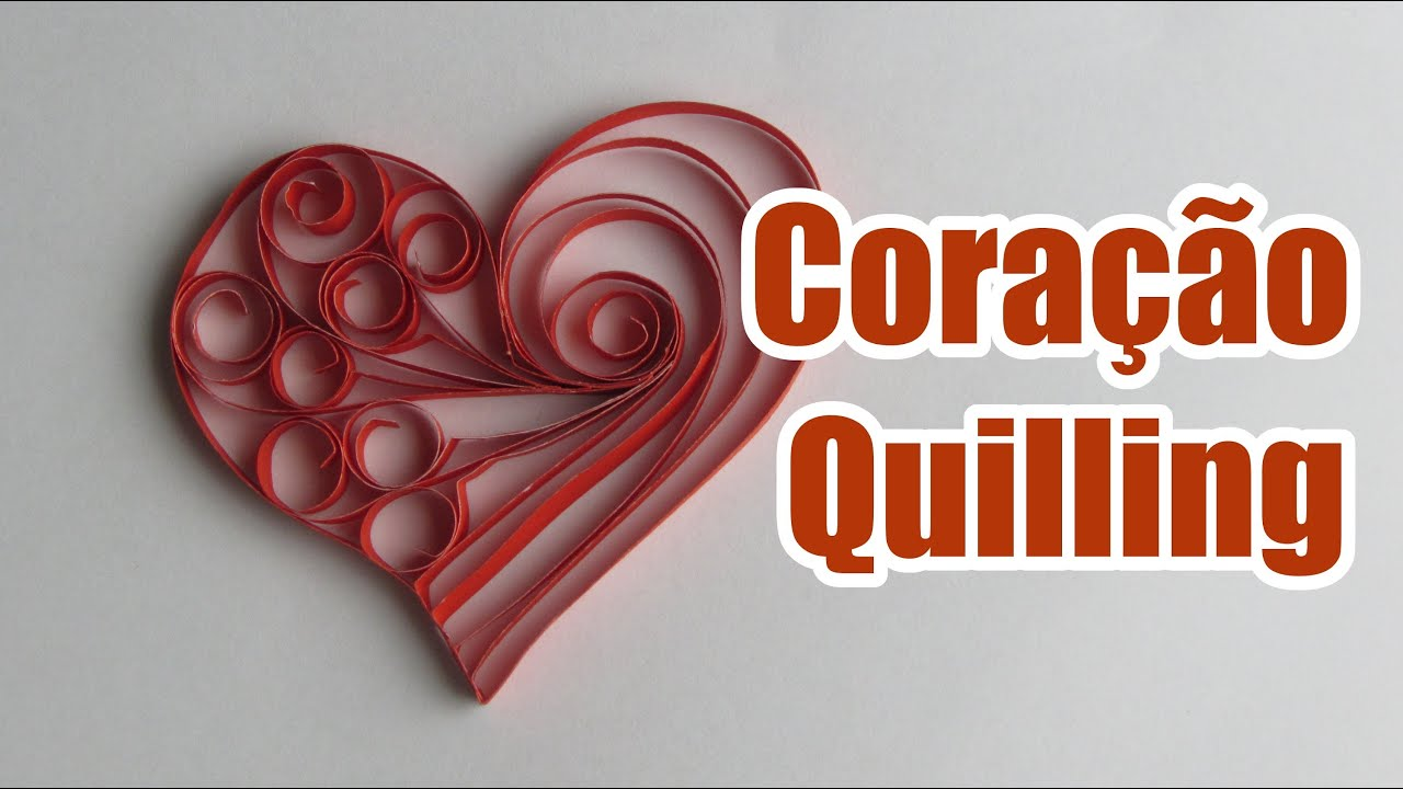 Papercraft Coração de Quilling
