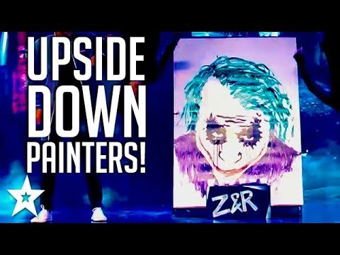 Talented Upside Down Painters Paint JOKER on Sri Lanka's Got Talent | Got Talent Global