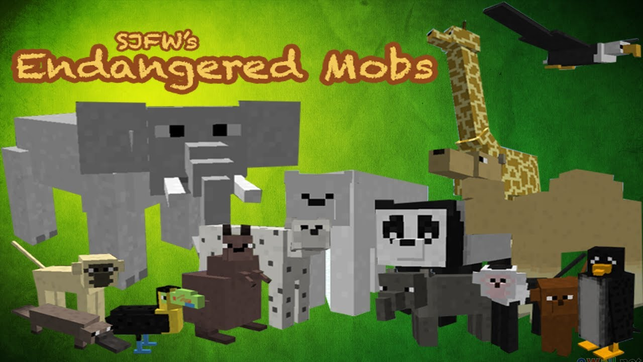minecraft mod animals mods mobs animal endangered mo cats pocket edition mincraft animais baby animaux elephants texture pe ride zoo