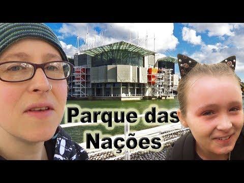 Visiting the Parque das Nações, Lisbon, Portugal, with Imo and Izzy. 🇵🇹