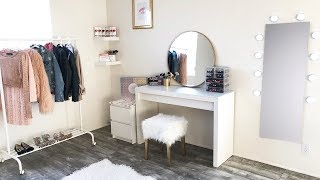 DIY Under $100 Marble Gold Beauty Room Makeover !!