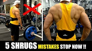 5 COMMON SHRUGS MISTAKES (श्रृग्स की आम गलतियां) STOP NOW!
