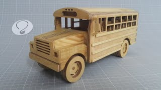 School Bus   Wooden Toy Car