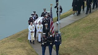Arrival ceremony for President George H.W. Bush at final resting place