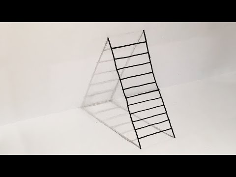 How To Draw Ladder Optical Illusion (DIY 3D Ladder)