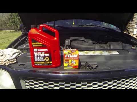 How to change engine oil 97-03 F150 5.4L Triton V8